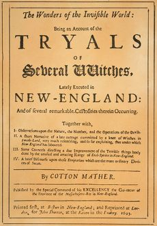 COTTON MATHER, 1693. Title-page of the 1693 London edition of Cotton Mather's