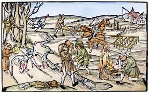 COUNTRY LIFE, 1504. Woodcut, 1504