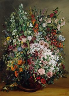 COURBET: BOUQUET, 1862. 'Bouquet of Flowers in a Vase