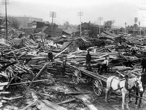 DAYTON FLOOD, 1913. A view of Dayton, Ohio, after the flood. Photograph, March 1913