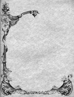 DECORATIVE BORDER. Engraved decorative border, 19th century