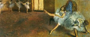 DEGAS: BEFORE BALLET, 1888. Edgar Degas: Before the Ballet. Canvas, 1888.