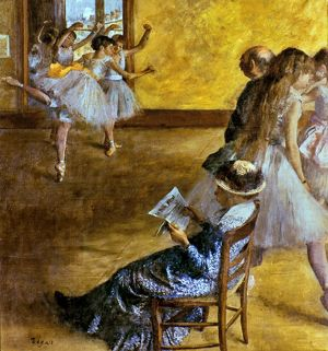 DEGAS: BALLET CLASS, c1878. The Ballet Class. Oil on canvas by Edgar Degas, c1878.
