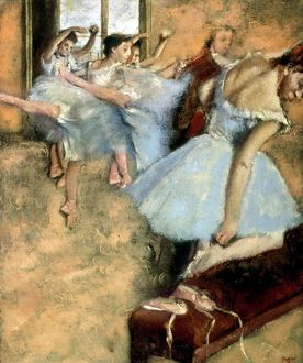 DEGAS: BALLET CLASS, c1880. A Ballet Class. Oil on canvas by Edgar Degas, c1880.