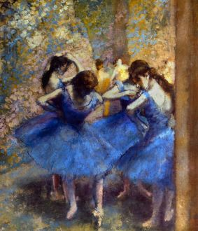 DEGAS: BLUE DANCERS, c1890. Oil on canvas by Edgar Degas.