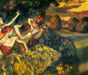 DEGAS: FOUR DANCERS, c1899. Canvas.