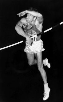 DONALD BRAGG (1935- ). American athlete. Bragg competing in the pole vault event