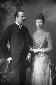 DUKE AND DUCHESS OF FIFE. Alexander Duff and Princess Louise, the Duke and Duchess of Fife