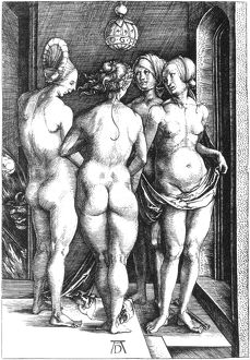 DURER: FOUR WITCHES, 1497. The Four Witches. Line engraving, 1497, by Albrecht Durer