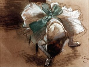 EDGAR DEGAS: DANCER. Oil on canvas.