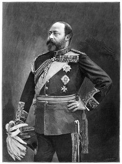 EDWARD VII (1841-1910). King of England, 1901-1910. As Prince of Wales. Engraving