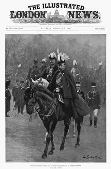 EDWARD VII AND WILHELM II. King Edward VII and Emperor Wilhelm II of Prussia riding
