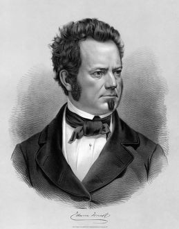 EDWIN FORREST (1806-1872). American actor. Engraving, 1860