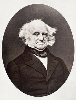 Eighth President of the United States. Daguerreotype by Mathew Brady.