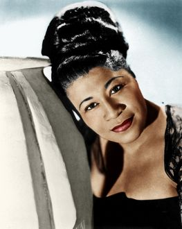 ELLA FITZGERALD (1917-1996). American singer. Photograph by Maurice Seymour, c1945