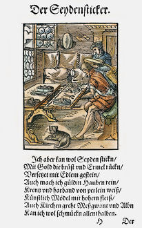 EMBROIDERER, 1568. Woodcut, 1568, by Jost Amman