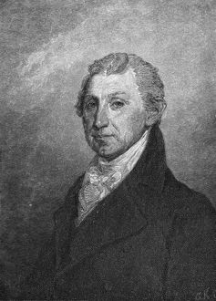 Fifth President of the United States. Engraving, 19th century, after the painting