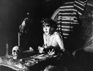FILM STILL: FORTUNE TELLING. Louise Fazenda in a silent film, early 20th century.