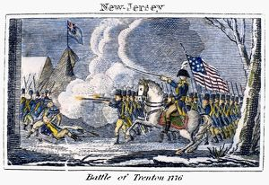 General George Washington leading the early morning attack on Trenton, New Jersey, 26 December 1776