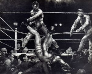 George Bellows: Dempsey and Firpo. Lithograph, 1924