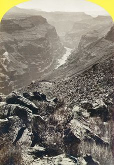 GRAND CANYON, 1873. A view of the Grand Canyon in Arizona from the foot of Toroweap Valley
