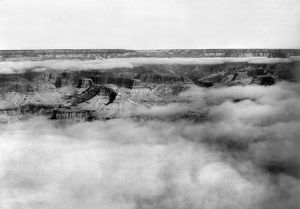 GRAND CANYON, c1905. Fog over the Grand Canyon in Arizona. Photographed c1905