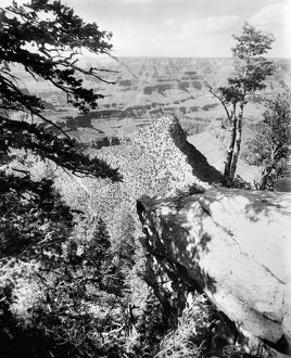 GRAND CANYON, c1906. A view of the Grand Canyon in Arizona, from the near bridge