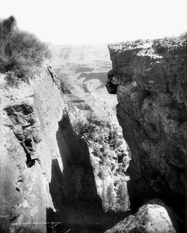 GRAND CANYON, c1906. A view of the Grand Canyon in Arizona, from between cliffs