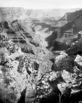 GRAND CANYON, c1906. A view of the Grand Canyon in Arizona, from in front of the