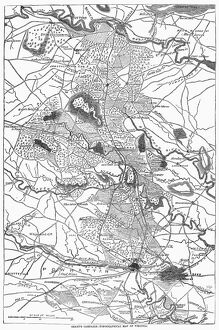 'Grant's Campaign - Topographical Map of Virginia.' Map of General Ulysses S