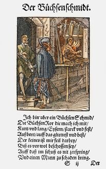 GUNSMITH, 1568. Woodcut, 1568, by Jost Amman