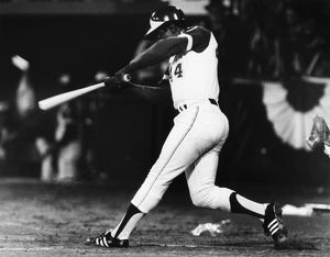 HANK AARON (1934- ). American baseball player. As a member of the Atlanta Braves