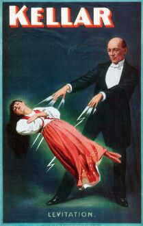 HARRY KELLAR (1849-1922). American magician. Lithograph poster, 1894.