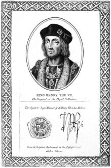 HENRY VII (1457-1509). King of England, 1485-1509. Etching, English, 1819
