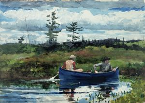 HOMER: THE BLUE BOAT, 1892. Watercolor on paper, Winslow Homer, 1892
