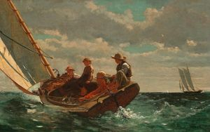 HOMER: BREEZING UP, C1874. 'Breezing Up (A Fair Wind)
