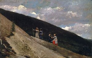 HOMER: IN THE MOUNTAINS. Oil on canvas, Winslow Homer, c1877