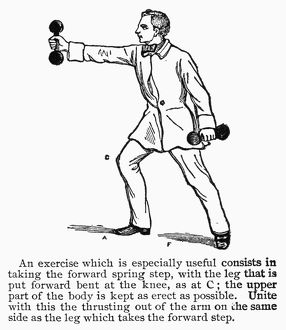 Illustration from a 19th century American exercise manual