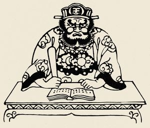 Japanese Buddhist deity who judges the souls of the dead. Derived from the Sanskrit Yama