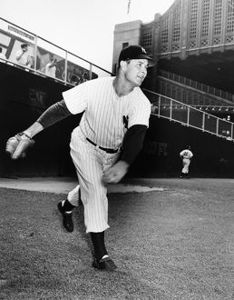 JOE PAGE (1917-1980). American baseball pitcher. Photographed as a member of the New York Yankees