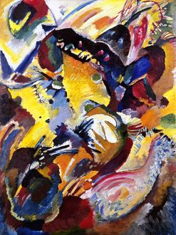 KANDINSKY: PAINTING, 1914. Painting no. 199. Oil on canvas by Wassily Kandinsky.