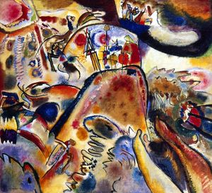 KANDINSKY: SMALL PLEASURES. . Oil on canvas, 1913, by Wassily Kandinsky