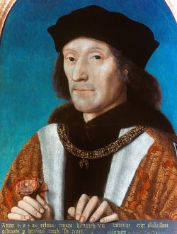 KING HENRY VII OF ENGLAND (1457-1509). Oil on panel by M. Sittow, 1505