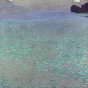 KLIMT: ATTERSEE, 1900. Oil on canvas, Gustav Klimt, 1900