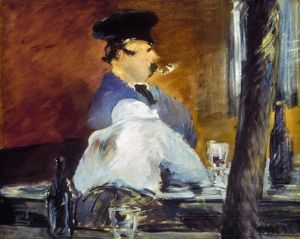 La Guingette. Oil on canvas by Edouard Manet.