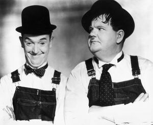 LAUREL AND HARDY. Stan Laurel (left) and Oliver Hardy.
