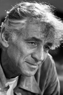 LEONARD BERNSTEIN (1918-1990). American composer and conductor. Photographed by Marion S