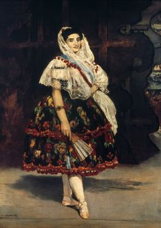 LOLA OF VALENCIA, 1862. Oil on canvas by Eduard Manet, 1862.