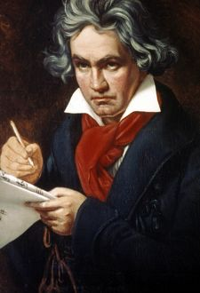 LUDWIG van BEETHOVEN (1770-1827). German composer. Oil, 1819-1820, by Joseph Carl Stieler.