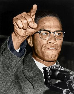 MALCOLM X (1925-1965). Born Malcolm Little. American religious and political leader